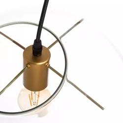 Lámpara de Techo de Cristal Esférica, detalle interior