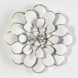 Escultura de Pared Flor Blanca