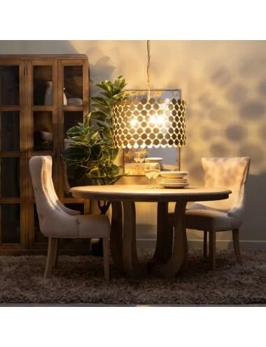 Lámpara de techo en metal dorado, idea de decoración
