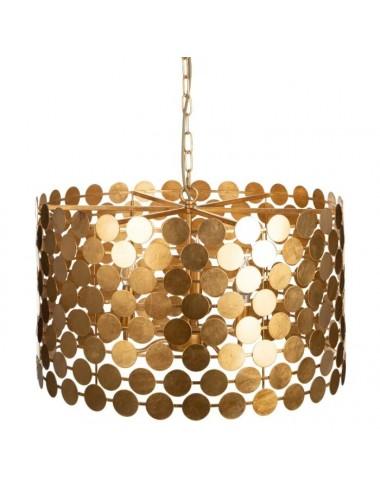 Lámpara de techo en metal dorado