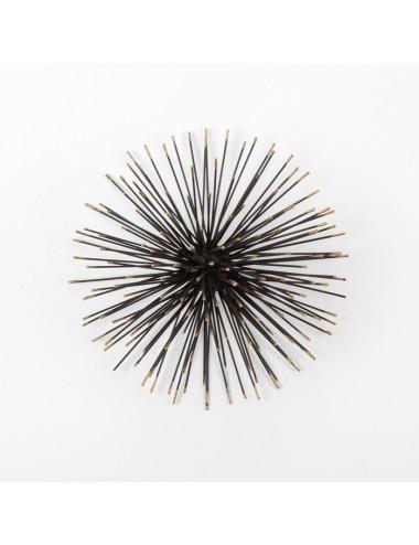Escultura en Metal Negro y Dorado