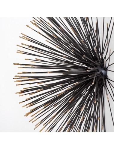 Escultura en Negro y Dorado tamaño Grande, detalle frontal