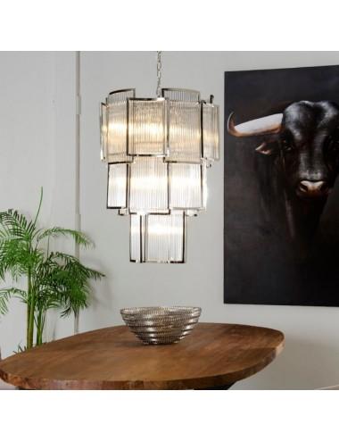 Lámpara Techo de Cristal Ondulado, idea Decoración