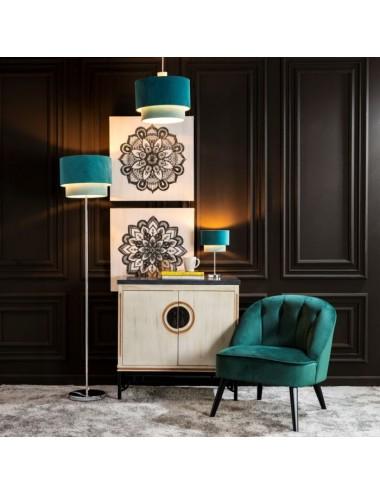Lámpara de suelo Azul/Celeste, idea Decoración