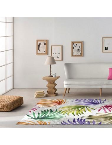 Alfombra de hojas Multicolor, idea Decoración