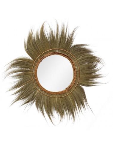 Espejo de fibra Natural estilo Étnico