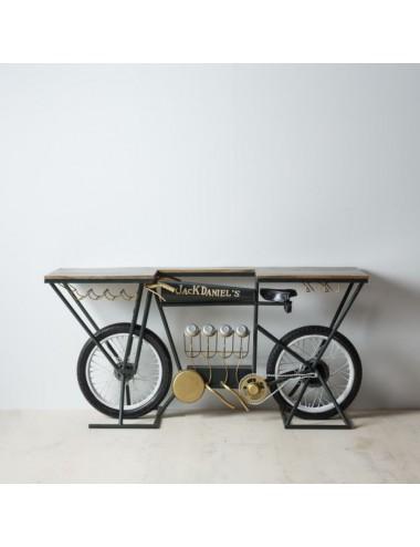 Consola Bicicleta de Hierro y Madera