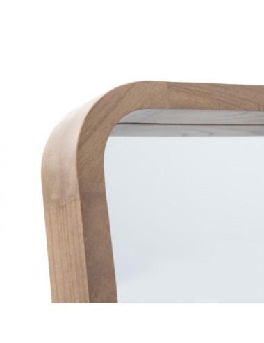 Espejo vestidor de madera de Paulownia, detalle superior