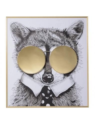 Cuadro de Impresión en Lienzo Zorro con gafas