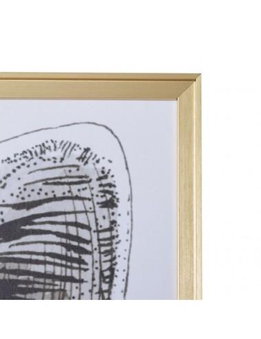 Cuadro de Impresión en Lienzo Zorro con gafas, detalle dibujo