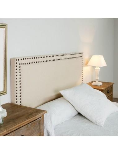 Cabecero en Crema de Tejido y Madera para Dormitorio, foto Ambiente 1