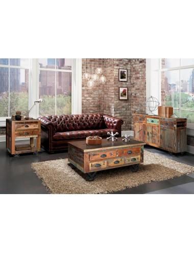 Mesa de Centro Vintage con Ruedas, foto Ambiente
