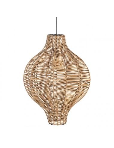 Lámpara de Techo Farol de Fibra Natural 47x47x66 cm
