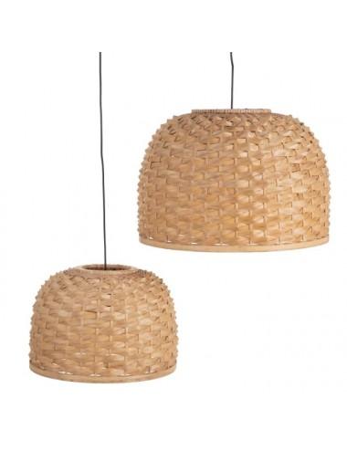 Set de dos Lámparas de techo de Fibra Natural