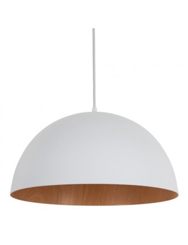 Set de dos Lámparas de Techo Blanca y Natural