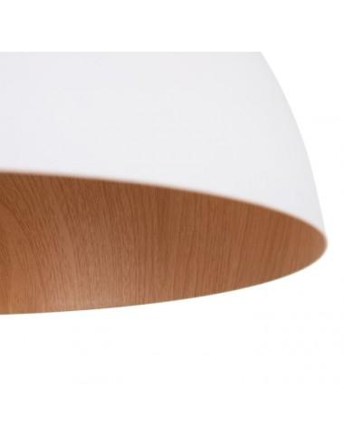Set de dos Lámparas de Techo Blanca y Natural, detalle Inferior