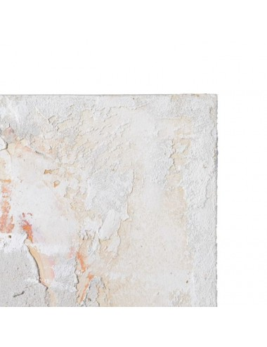 Pintura de Flores Gris y Oro en Lienzo, detalle Superior