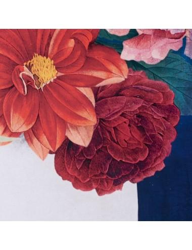 Cuadro Impresión de Rostro de Mujer con Flores, detalle Flores