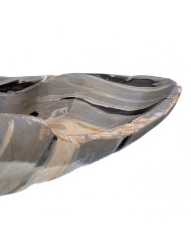 Bandeja en color Natural y Gris en madera de Teka