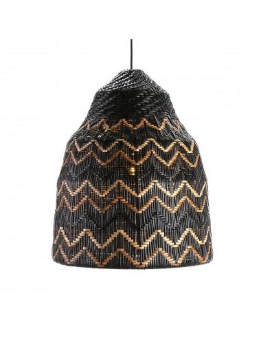 Lámpara de Techo Mimbre color Negro Marrón y Natural