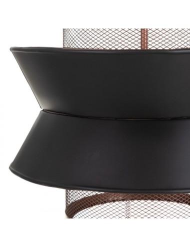 Lámpara de Techo Negro y Cobre, detalle Pantalla