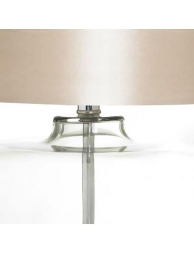 Lámpara de Sobremesa Gris de Cristal y Tejido, vista Detalle