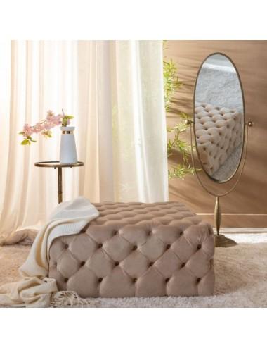 Espejo Vestidor Ovalado Oro Viejo Metal y Cristal, foto Ambiente