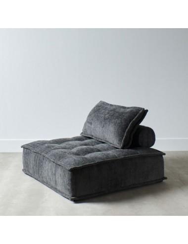 Sofá de una Plaza en Gris Oscuro