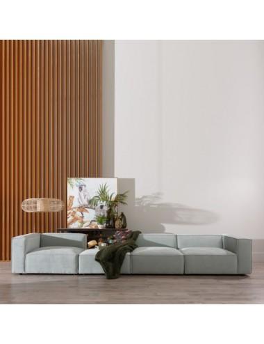 Puf Sofá Modular Verde Claro, foto Ambiente 1