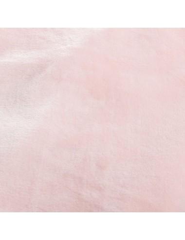 Manta de Pelo color Rosa Palo con Flecos