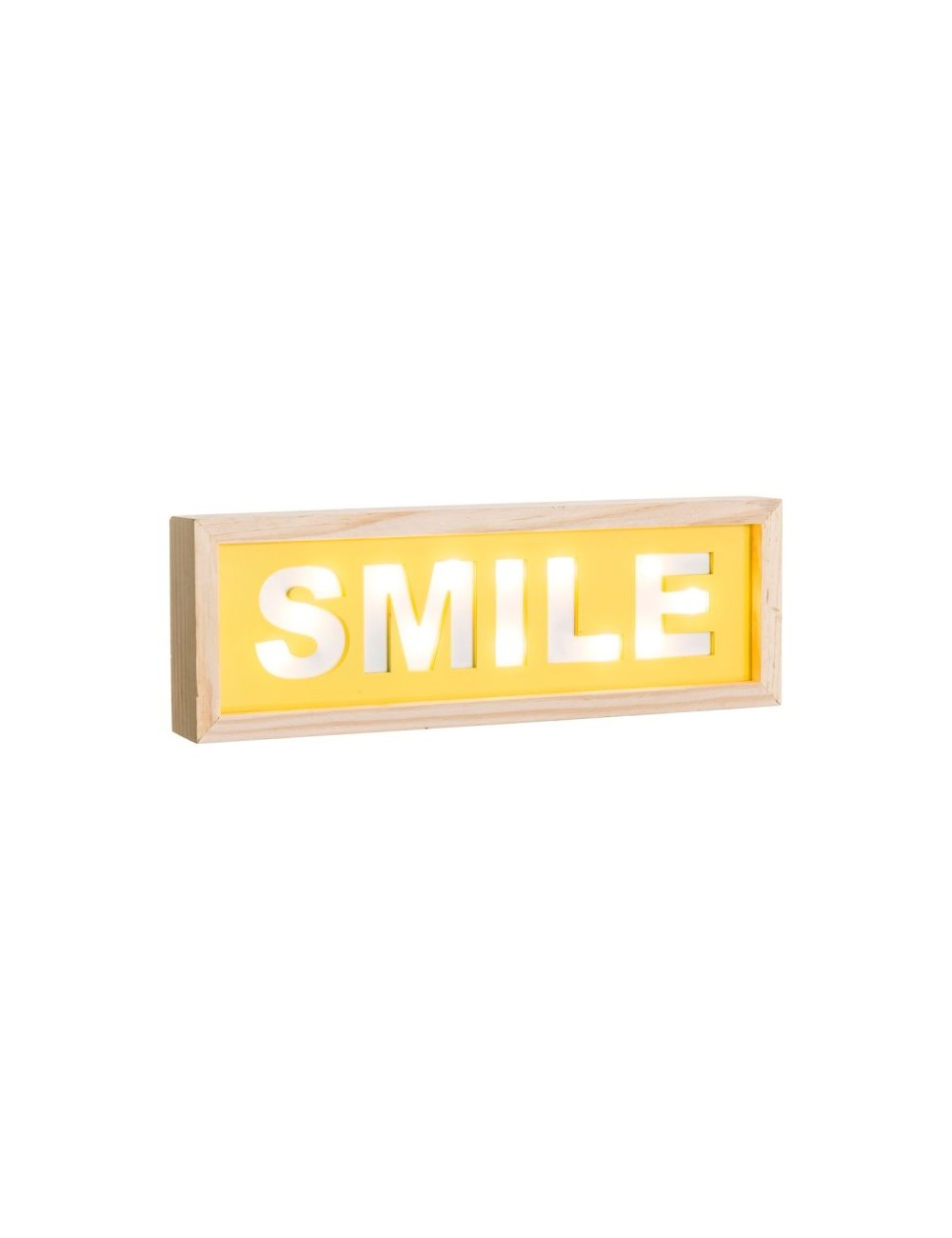 Mural de Pared SMILE con Luz Led