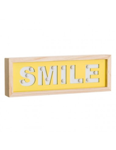 Mural de Pared SMILE con Luz Led, vista Posterior