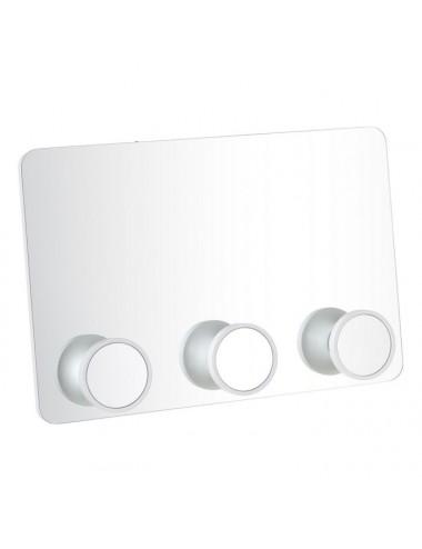 Espejo Percha de Cristal Blanco