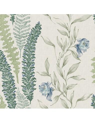 Papel Pintado Florar color Alga