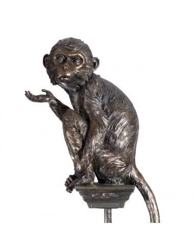 Figura de Mono en Bronce y Poliresina, vista Lateral