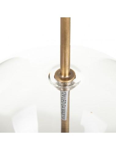 Lámpara de Techo en Oro y Metal con Pantalla de Cristal, detalle Superior