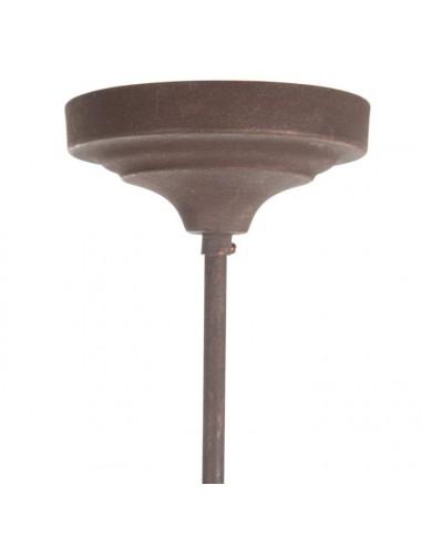 Lámpara de Techo de Cuentas de madera Natural, detalle Rosetón
