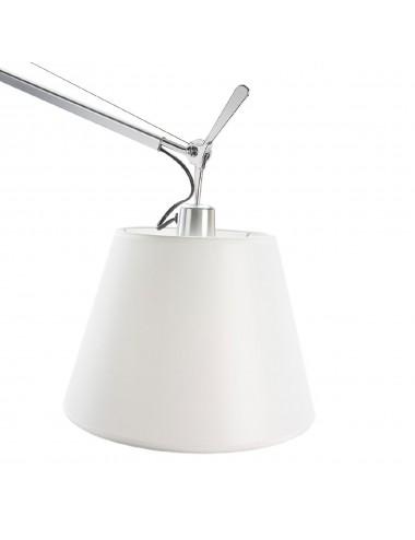 Lámpara de Pie Articulada con Pantalla de Aluminio, detalle Pantalla