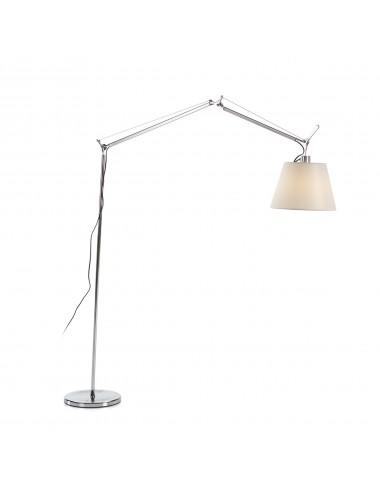 Lámpara de Pie Articulada con Pantalla de Aluminio