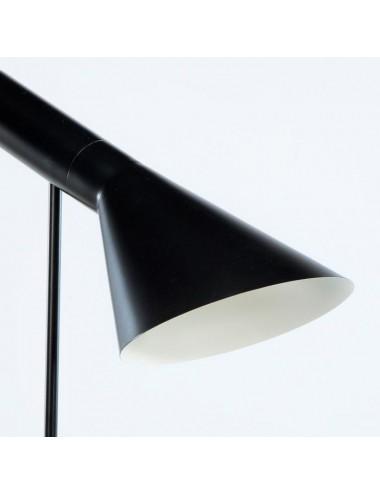 Lámpara de Pie en Metal Negro, detalle Pantalla