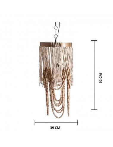 Lámpara de Techo de Cuentas y Cuerda, Medidas