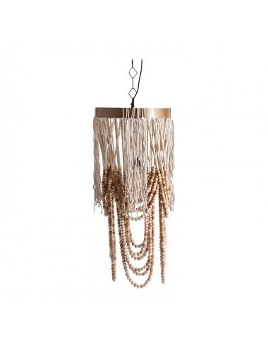 Lámpara de Techo de Cuentas y Cuerda