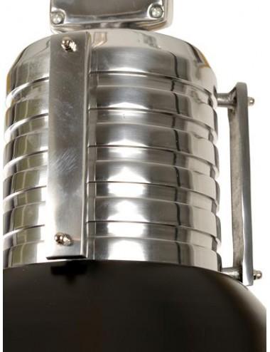 Lámpara de Techo de Estilo Industrial en Metal, detalle Superior