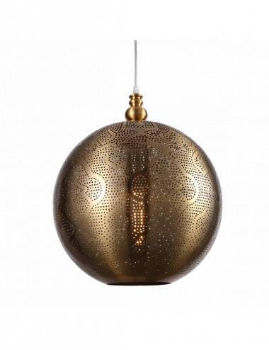 Lámpara de Techo de Acero Calado en Dorado Envejecido
