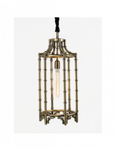 Lámpara de Metal Dorado Envejecido