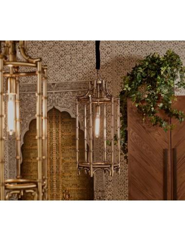Lámpara de Metal Dorado Envejecido, foto Ambiente 1