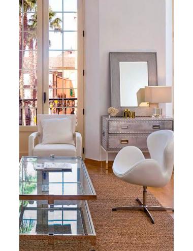 Silla de Diseño SWAN color Blanca, foto Ambiente