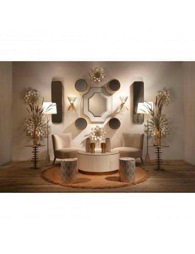 Escultura de Pared Flor Blanca, foto Ambiente 1
