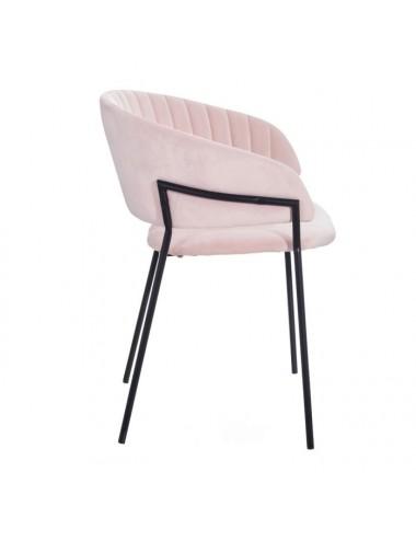 Set de Dos Sillas de Terciopelo y Metal color Rosa