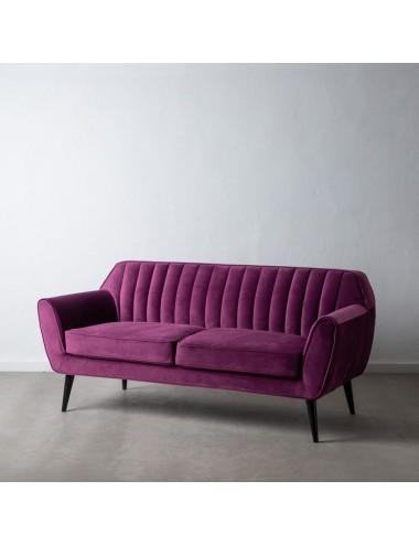 Sofá de Dos Plazas en Terciopelo Purpura